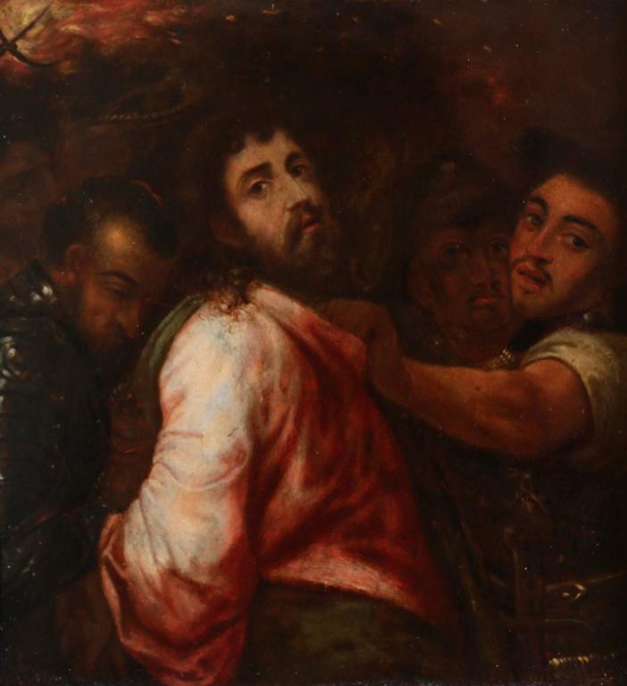 Michiel Coxie Portrait Painting - The Arrest of Christ