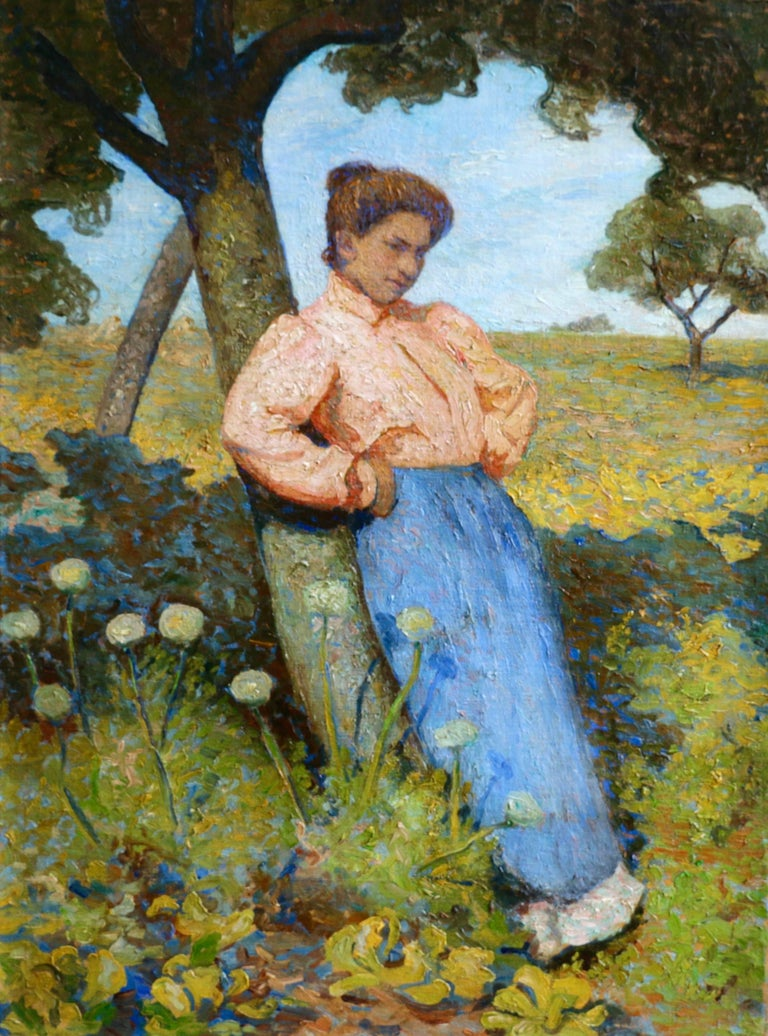 Unknown Portrait Painting - Fauves - Under the Apple tree