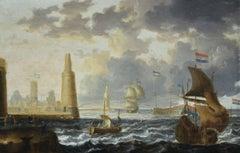 Peter Van Den Velde (1634-1687) - An Oriental Port