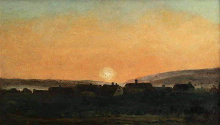 Charles François Daubigny Landscape Painting - Sunset