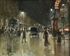 Paris - Grands Boulevards - Moonlight
