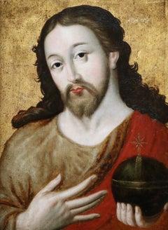 16th Century Netherlandish School (C.1500-1600) - Christ Blessing
