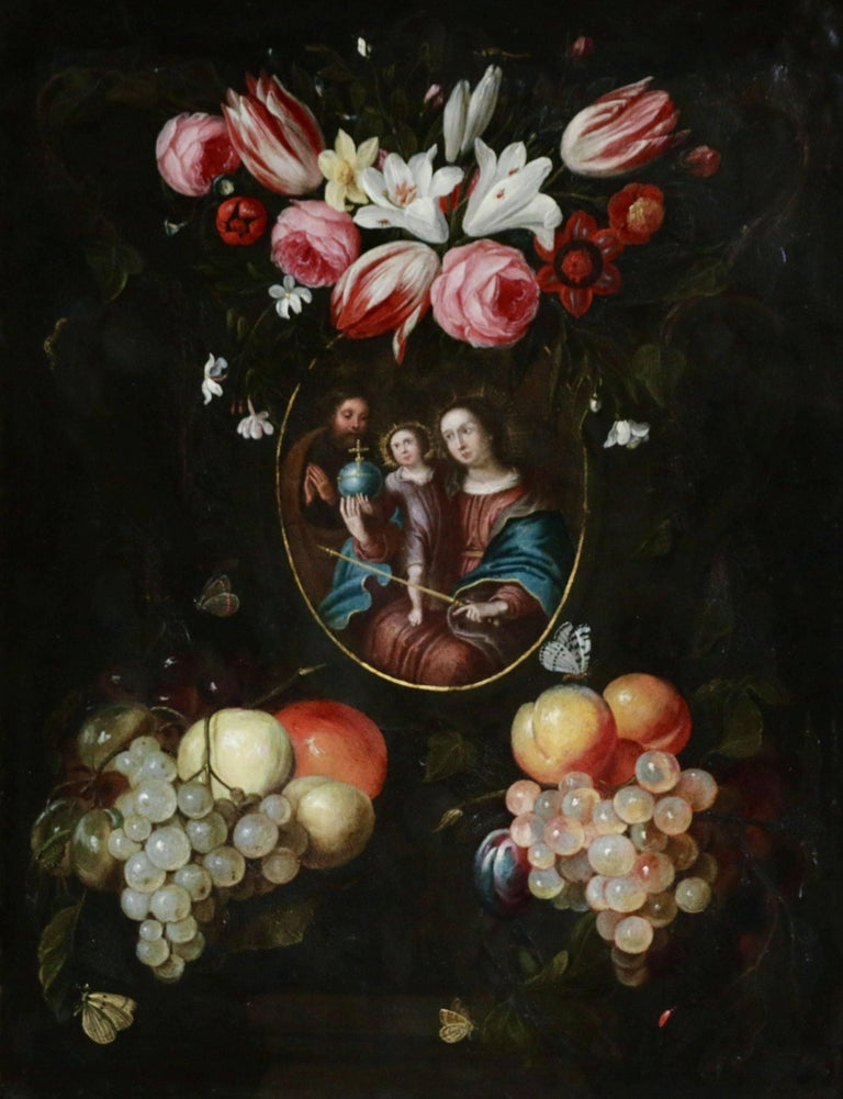 Jan Pauwel Gillemans The Younger Portrait Painting - The Holy Family