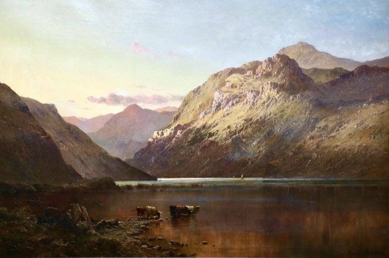 Alfred de Breanski Sr. Landscape Painting - At the foot of Brander Pass - Highlands