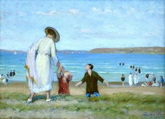 Saint Efflam - Elegant Figures on the Beach