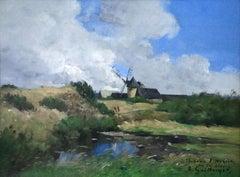 Windmill in Landscape