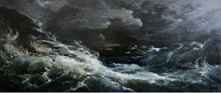Gustave Courbet (1819-1877) Landscape Painting - Waves Breaking