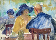 Figures in a Cafe