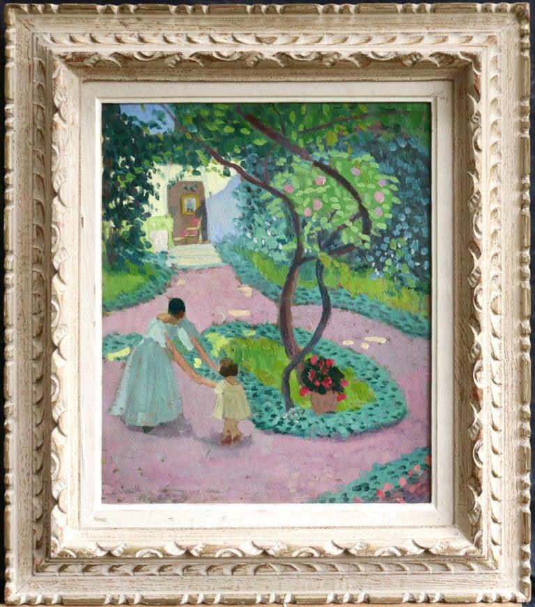 Dans La Jardin - Painting by Francis Smith