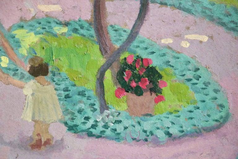 Dans La Jardin - Post-Impressionist Painting by Francis Smith