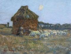 Shepherd at Moonrise