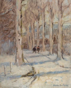 Figures on a Road in Winter