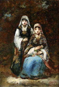 Two Gypsy Girls in Woodland