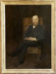 """Portrait of a Gentleman"" Fantin-Latour C.19th French Impressionist Figure"