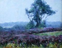 Etude de la Bruyère - Early 20th Century Oil, French, Landscape by W Dewhurst