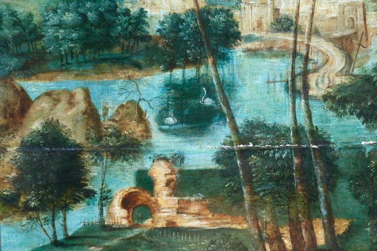 Pilgrims Journey - Figure in Landscape, 16th Century Netherlandish Old Master For Sale 1