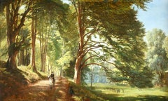 Windsor Great Park- Early 19th Century Oil, Figure in Landscape by Francis Danby
