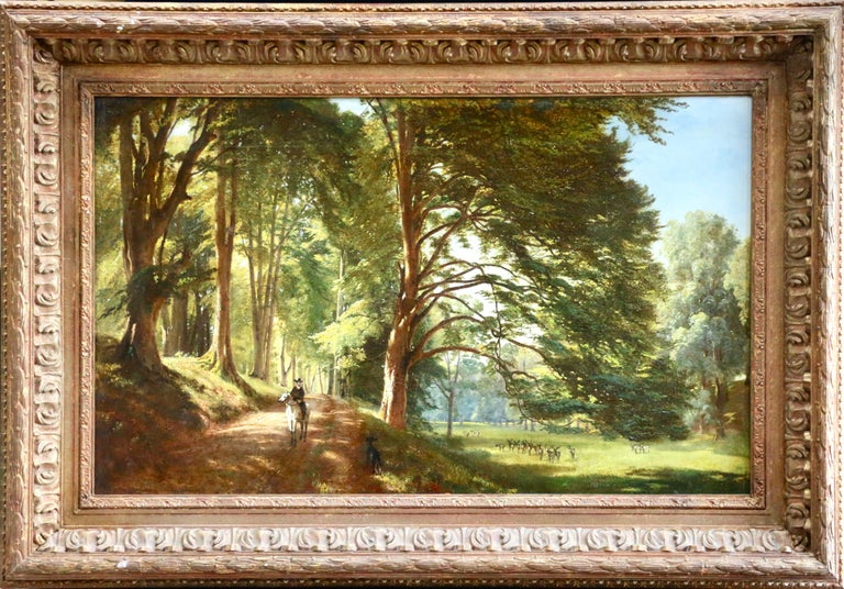 Windsor Great Park- Early 19th Century Oil, Figure in Landscape by Francis Danby For Sale 1