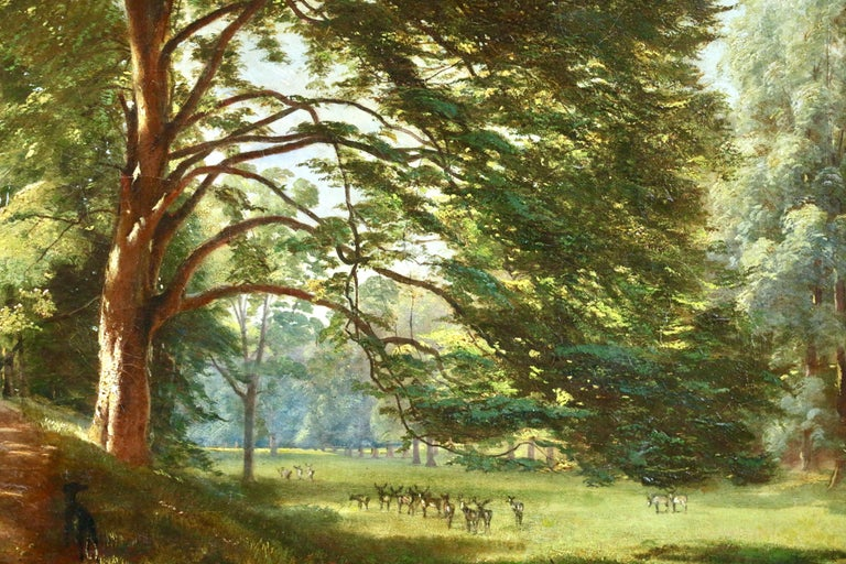 Windsor Great Park- Early 19th Century Oil, Figure in Landscape by Francis Danby For Sale 3