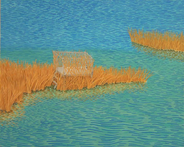 Alan Bray, Blind, Casein on panel landscape painting, 2014