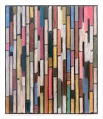 Tamiko Kawata, PH Drawing, Abstract charcoal, pastel, and tape drawing, 2014
