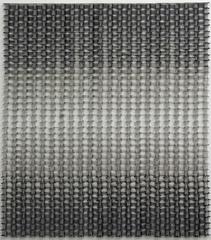 Tamiko Kawata, Permutation Seven, Abstract nickel-plated safety pin sculpture