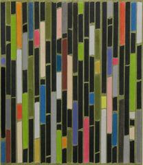 Tamiko Kawata, PH (Pantyhose Drawing) No. 5, Abstract charcoal and pastel, 2016