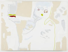 J Ivcevich, Untitled (Mask Variation), Acrylic on canvas painting, outsider art