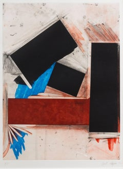 Joel Shapiro, Untitled, abstract geometric limited edition etching, 1992