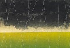 Keiji Shinohara, Accelerondo, Ukiyo-e woodcut print landscape, 2005