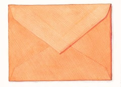 Margot Glass, Orange Envelope, Watercolor and pencil still life, 2016