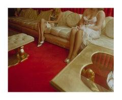 Girls Parlor Chicken Ranch, figurative dye-transfer documentary photograph