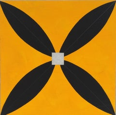 Mary Judge, Star M2, Abstract flashe on linen on board painting, 2014
