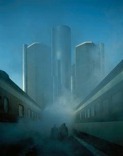 Timothy Hursley, Detroit, blue architectural dye-transfer photograph, 1978/1990