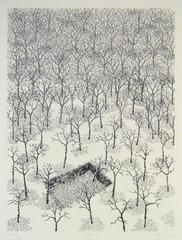 Alan Bray, Ghost, landscape lithograph on Rives BFK, 2012