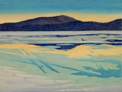 Alan Bray, January Thaw, casein on panel landscape painting, 2016