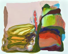 Sandy Litchfield, Flower Filter, Abstract gouche on paper, 2015