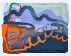 Sandy Litchfield, Filterscape, Abstract gouche on paper, 2015