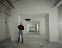 Andy Warhol, Factory Basement, New York, portrait photograph, limited ed c-print