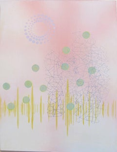 Dorothy Alig, Sense of Self ESFJ, Abstract acrylic on wood panel painting, 2016