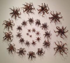 Christopher Adams, Untitled (black/brown group), Ceramic sculpture, 2014