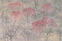 Alan Bray, Hillside, Casein on panel landscape painting, 2016