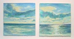 Daisy Craddock, Sea Sky (St. Lucia), Oil pastel seascape, 2008