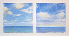 Daisy Craddock, Sea Sky Studies, Early Morning, Oil pastel landscape, 2011