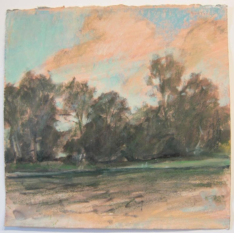 Daisy Craddock, Thousand Islands, Oil pastel landscape, 2008