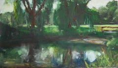 Daisy Craddock, Study for Now and Then, Oil pastel landscape, 2012