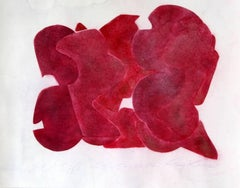 Ray Kass, Still Life 8-5-2014, abstract mixed media watercolor painting, 2014