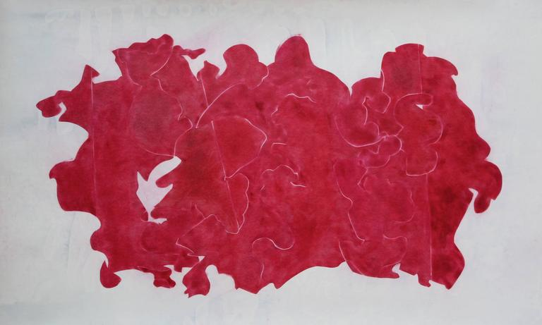 Ray Kass, Still Life 12-23-2014, abstract mixed media watercolor painting, 2014 - Art by Ray Kass