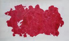Ray Kass, Still Life 12-23-2014, abstract mixed media watercolor painting, 2014
