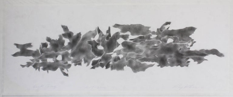 Ray Kass, Bark-Ing 06-07-2016, Abstract graphite drawing on paper, 2016 - Art by Ray Kass